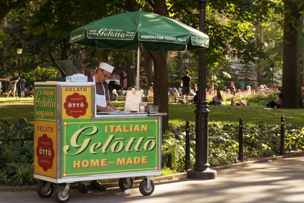 does gelato contain milk